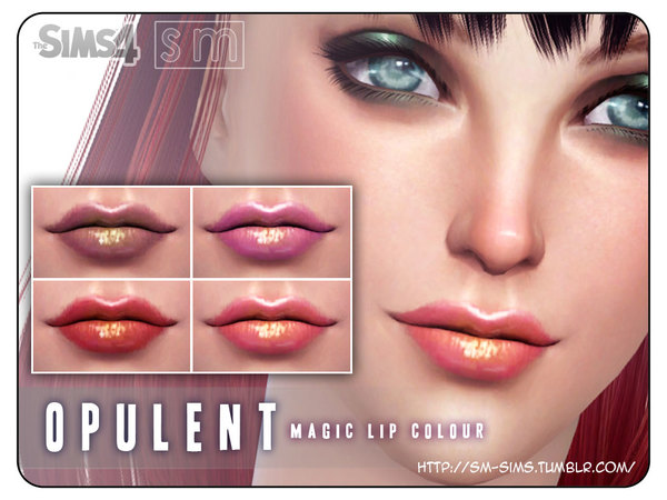 Opulent Magic Lip Colour by Screaming Mustard at TSR image 1938 Sims 4 Updates