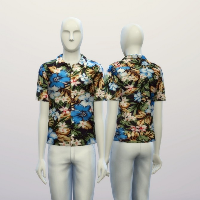 Aloha blue floral shirt at Rusty Nail image 19410 670x670 Sims 4 Updates