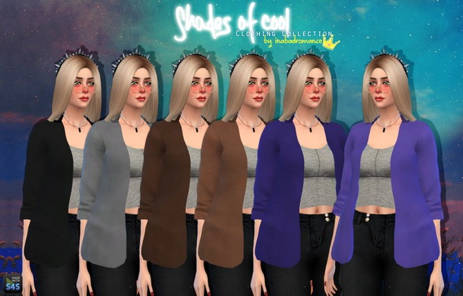 Sims 4 Shades of Cool Collection at In a bad Romance