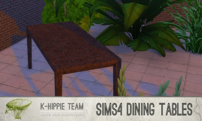 5 Dining Tables Metal Serie volume 1 at K hippie image 1979 670x402 Sims 4 Updates
