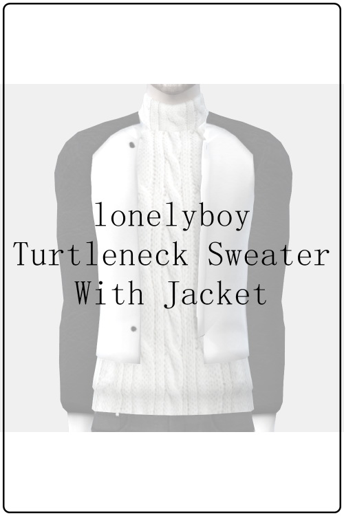Turtleneck sweater with jacket by lonelyboy at Happy Life Sims image 19913 Sims 4 Updates
