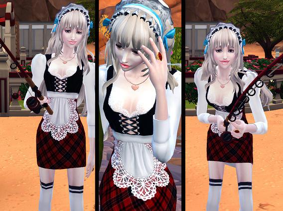 Sims 4 Maid Dress Lily retexture at Studio K Creation