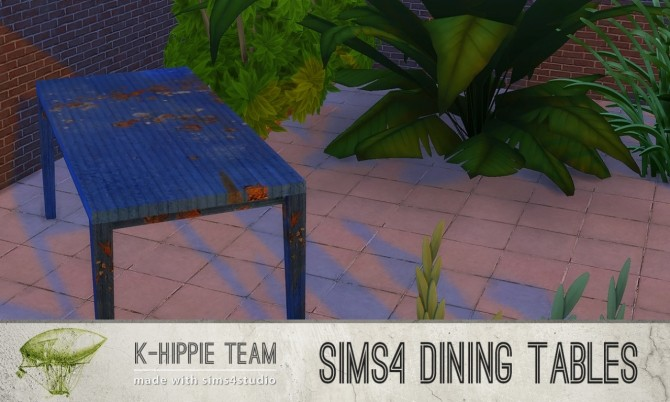5 Dining Tables Metal Serie volume 1 at K hippie image 1999 670x402 Sims 4 Updates