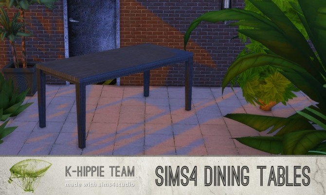 5 Dining Tables Metal Serie volume 1 at K hippie image 2009 670x402 Sims 4 Updates