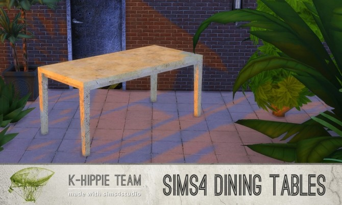 5 Dining Tables Metal Serie volume 1 at K hippie image 20116 670x402 Sims 4 Updates
