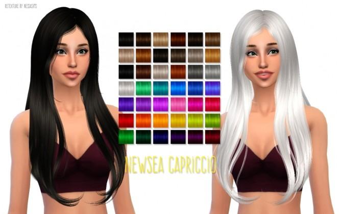 Sims 4 Newseas Capriccio hair retexture at Nessa Sims