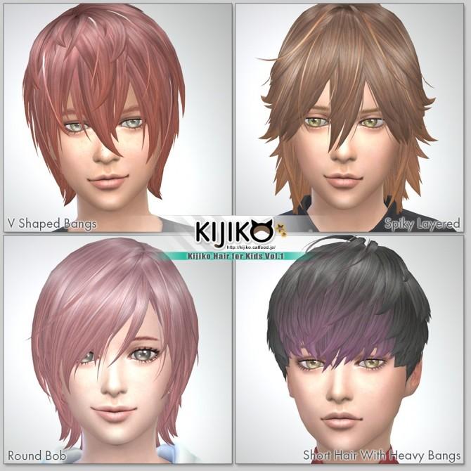 Sims 4 Hair for Kids Vol.1 at Kijiko