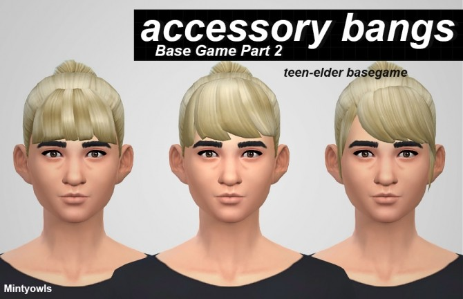 ACCESSORY BANGS PART 2 at MintyOwls image 20711 670x432 Sims 4 Updates