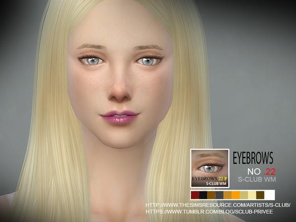 Sims 4 Eyebrows 22 F by S Club WM at TSR