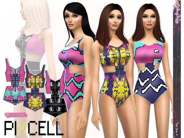 Sims 4 Octopus Swimsuit SET by Simsimay at TSR