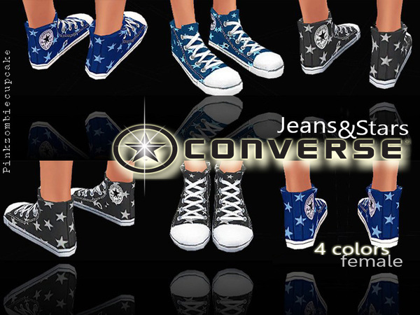 Sneakers Jeans&Stars by Pinkzombiecupcakes at TSR image 2116 Sims 4 Updates