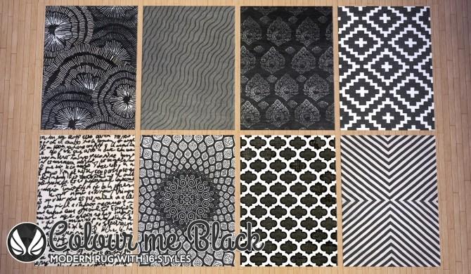 Colour Me Black Modern Rugs At Simsational Designs 187 Sims