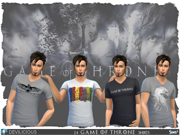 Sims 4 Game Of Thrones Male Shirts by Devilicious at TSR