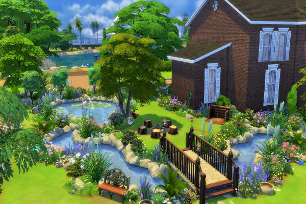 Secret Garden by mystril at Blacky's Sims Zoo image 216 Sims 4 Updates