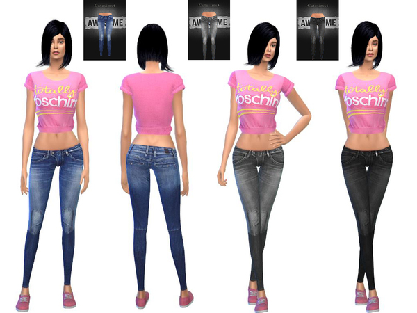 Sims 4 Female denim collection by sweetsims4 at TSR