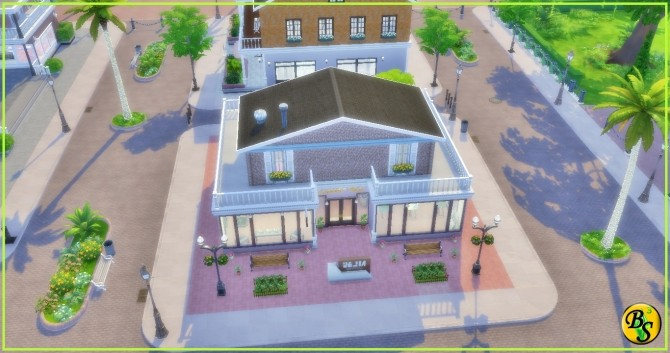 Sims 4 Arte e Cultura lot at Beaz Sims