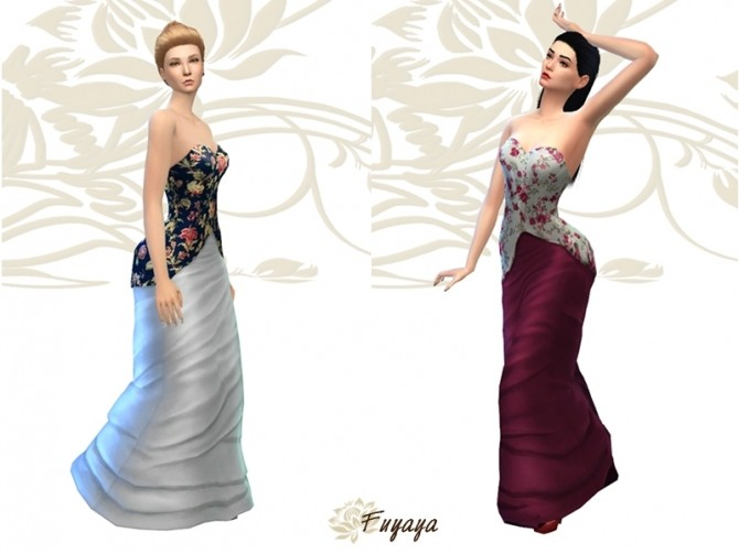 Tournure dress by Fuyaya at Sims Artists image 2202 670x503 Sims 4 Updates