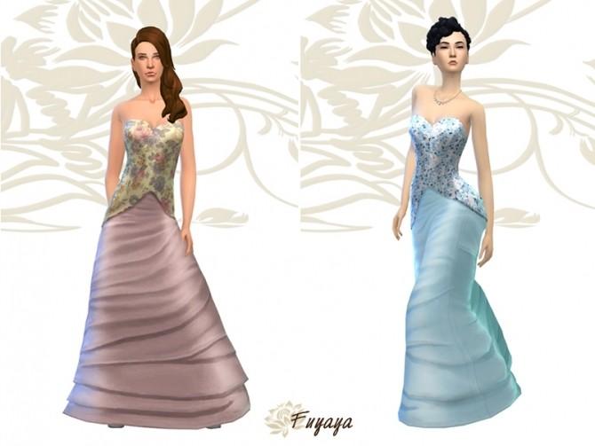 Tournure dress by Fuyaya at Sims Artists image 2216 670x503 Sims 4 Updates