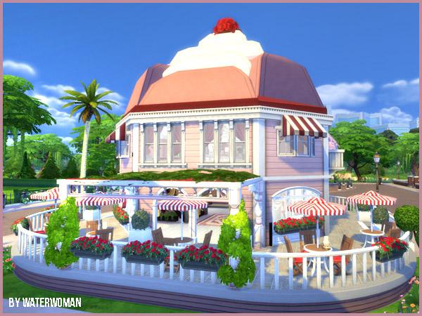 The Cupcake Shop by Waterwoman at Akisima image 2228 Sims 4 Updates