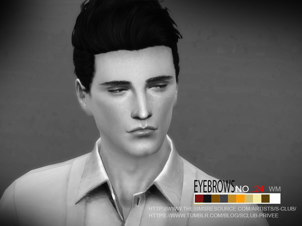 Sims 4 Eyebrows 24 M by S Club at TSR