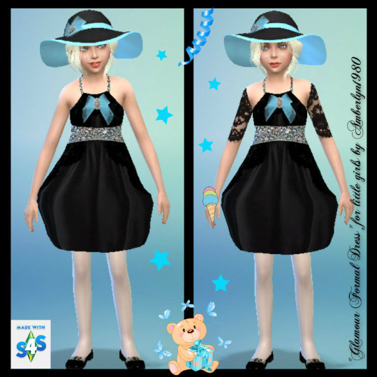 Glamour Formal Set for little girls at Amberlyn Designs image 2262 Sims 4 Updates