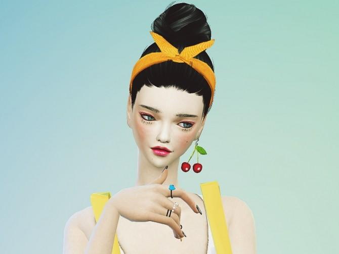 Sims 4 Hair band ver.2 at Marigold
