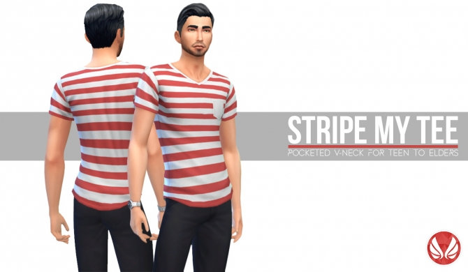 Stripe My Tee At Simsational Designs 187 Sims 4 Updates