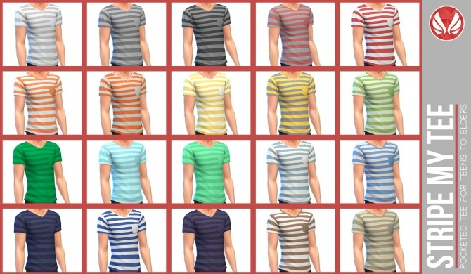 Stripe My Tee at Simsational Designs image 2304 670x390 Sims 4 Updates