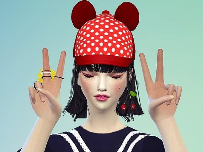Sims 4 Bear ears cap at Marigold