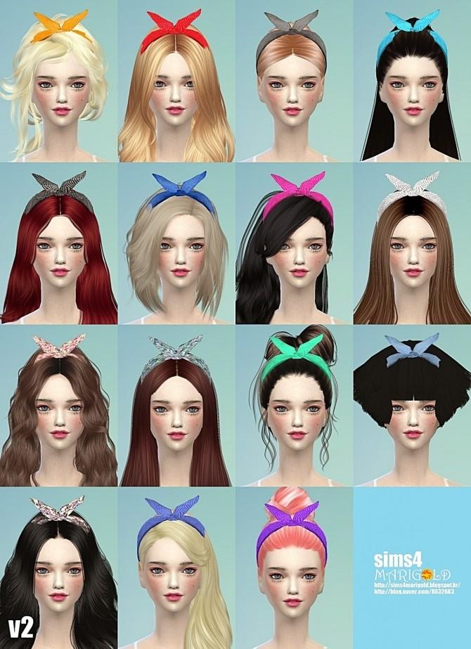 Hair Band Ver 2 At Marigold 187 Sims 4 Updates