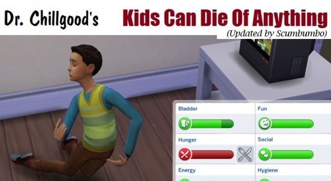 DrChillgoods Kids Can Die of Anything Updated by scumbumbo at Mod The Sims image 2324 670x367 Sims 4 Updates