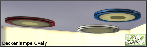 Oval ceiling lamp by Christine1000 at Sims Marktplatz image 2374 Sims 4 Updates