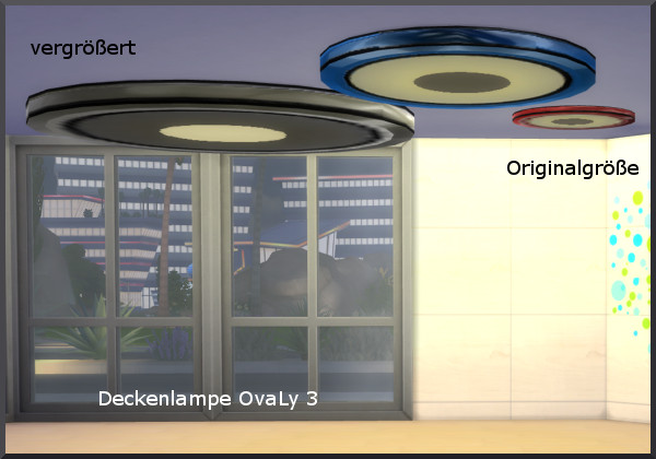 Oval ceiling lamp by Christine1000 at Sims Marktplatz image 2393 Sims 4 Updates