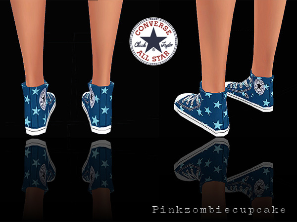 Sneakers Jeans&Stars by Pinkzombiecupcakes at TSR image 2412 Sims 4 Updates
