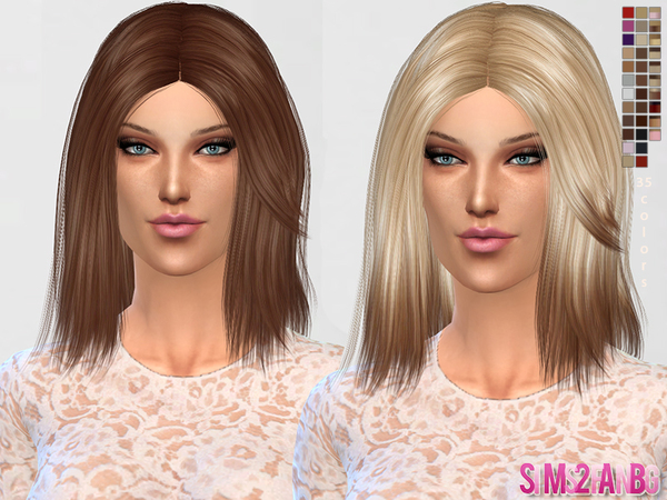 Medium Hair 01 by sims2fanbg at TSR image 251 Sims 4 Updates