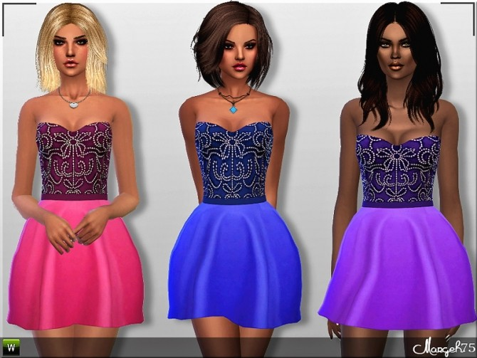 Paloma Dress by Margie at Sims Addictions image 2527 670x503 Sims 4 Updates