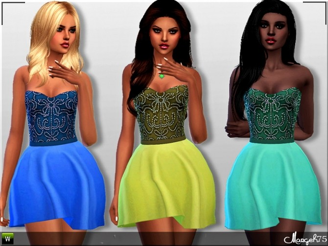 Paloma Dress by Margie at Sims Addictions image 2532 670x503 Sims 4 Updates