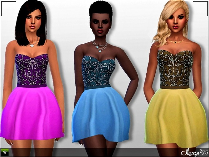 Paloma Dress by Margie at Sims Addictions image 2542 670x503 Sims 4 Updates