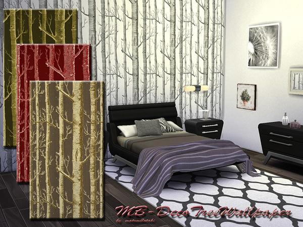 MB Deco Tree Wallpaper by matomibotaki at TSR image 257 Sims 4 Updates