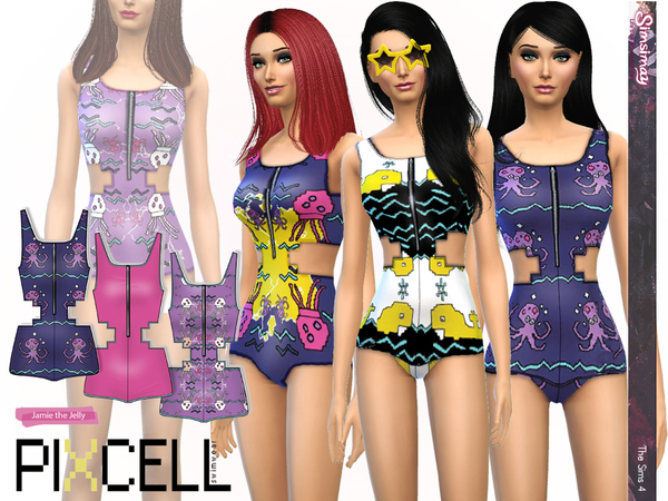 Sims 4 SET of 4 Swimsuits by Simsimay at TSR