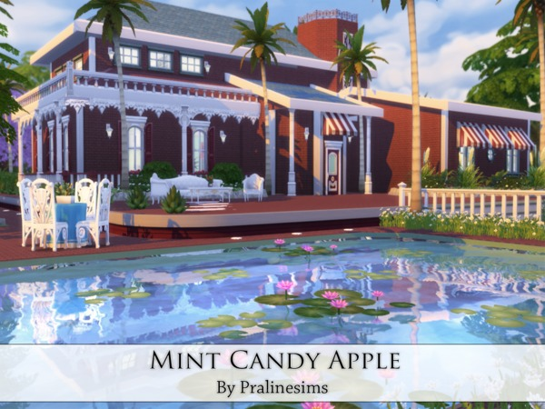 Mint Candy Apple house by Pralinesims at TSR image 2624 Sims 4 Updates