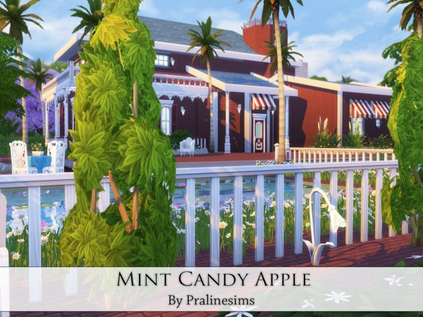 Mint Candy Apple house by Pralinesims at TSR image 2720 Sims 4 Updates