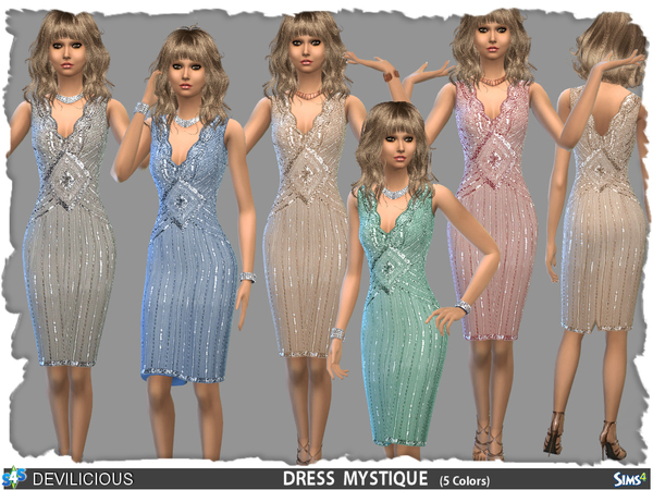 Sims 4 Mystique dress by Devilicious at TSR