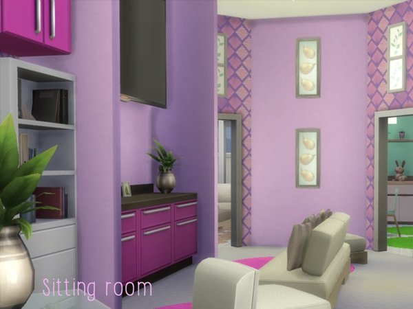 Lovely Lavender home by lenabubbles82 at TSR image 280 Sims 4 Updates