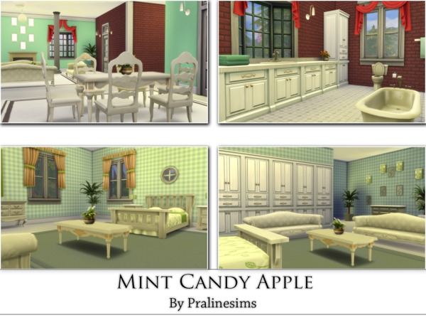 Mint Candy Apple house by Pralinesims at TSR image 2920 Sims 4 Updates