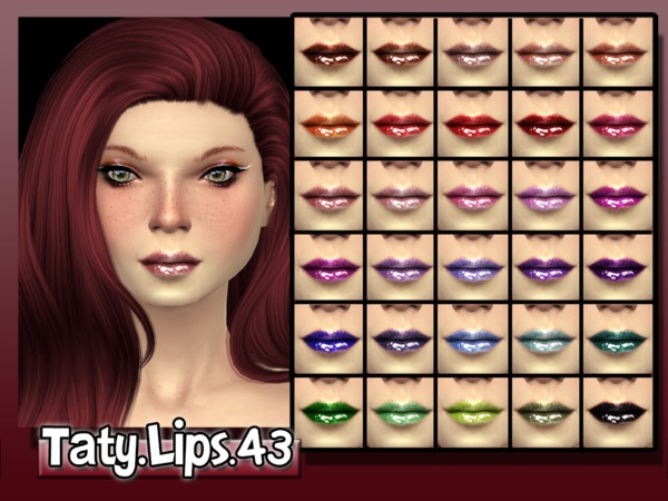 Lips 43 by Taty at TSR image 2927 Sims 4 Updates