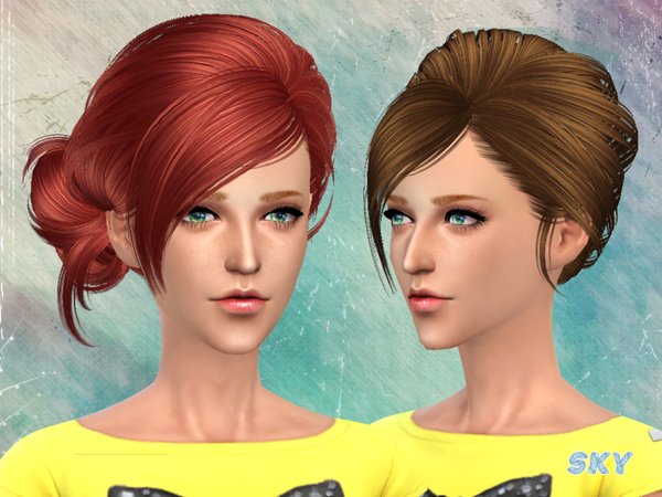 Sims 4 Hair 113 by Skysims at TSR