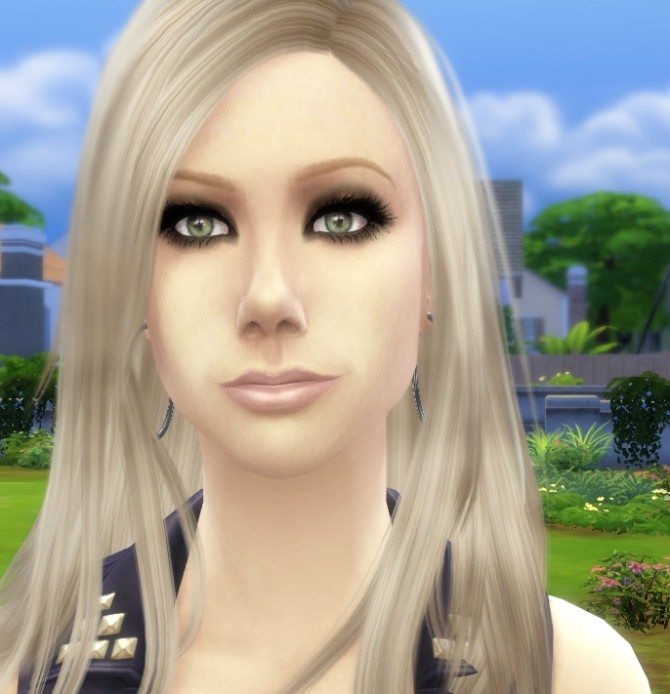 Sims 4 Avril Lavigne Rocker Chick by Audrey at Mod The Sims