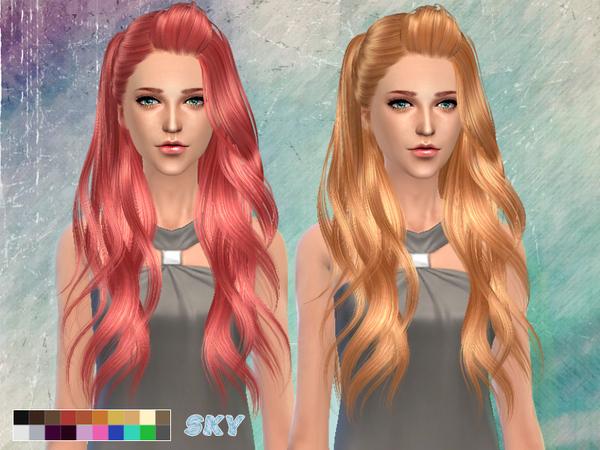 Sims 4 Hair 262 by Skysims at TSR
