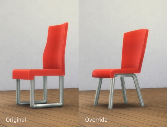 Sims 4 Commissioner Chair Mesh Override by plasticbox at Mod The Sims